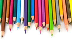 Set of colorful color pencil Royalty Free Stock Photos