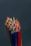 Set of Colorful Colored Pencils or Crayons multicolor. N royalty free stock photos