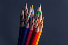 Set of Colorful Colored Pencils or Crayons multicolor. N stock photos