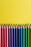 Set of Colorful Colored Pencils or Crayons multicolor Stock Photos