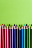 Set of Colorful Colored Pencils or Crayons multicolor. N royalty free stock photography