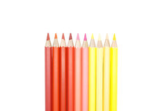 Set of colorful colored pencils. Isolated on white background Royalty Free Stock Photo