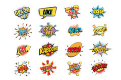 Set of colorful comic speech bubbles shape. Pop art retro vector illustration Stock Photo