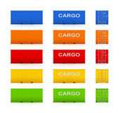 Set of colorful containers. Stock Image