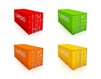 Set of colorful containers. Stock Photography