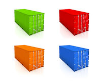 Set of colorful containers. Stock Photos
