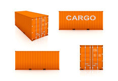 Set of colorful containers. Royalty Free Stock Photography