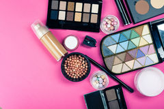 Set of colorful cosmetics Royalty Free Stock Images