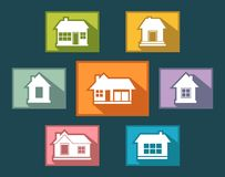 Set colorful cottage buttons Royalty Free Stock Photos