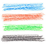 Set of colorful crayon lines Stock Photo