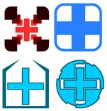 Set of colorful Crosses decorations isolated Royalty Free Stock Images