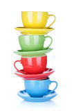 Set of colorful cups Royalty Free Stock Photos