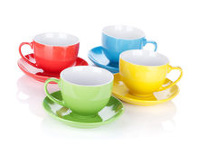 Set of colorful cups Royalty Free Stock Photography