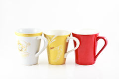 A Set of colorful cups.  royalty free stock image