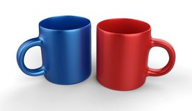 Set of colorful cups Stock Images