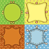 Colorful cute frame Stock Photos