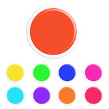 Set of colorful 3d buttons Stock Photography