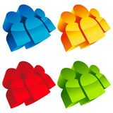Colorful 3D Group Icons Royalty Free Stock Image