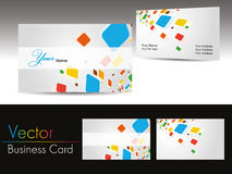 Set of colorful  design business cards Stock Image