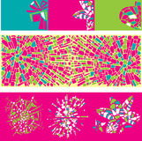 Set of colorful design elements of mosaic Stock Image