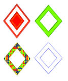 Set of Colorful Diamond Shaped Frames Stock Image