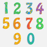 Set of colorful digits. Multicolored numbers Stock Photo