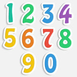 Set of colorful digits. Multicolored numbers Royalty Free Stock Photo