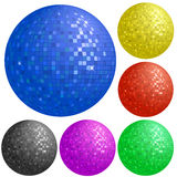 Set of colorful disco balls Royalty Free Stock Photography