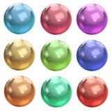 Set of colorful disco balls Stock Photos