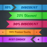 Set of colorful discount banners Stock Photography