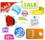 Set of colorful discount elements Stock Photos