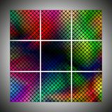 Set of colorful dotted backgrounds vector Royalty Free Stock Images