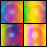 set of colorful dotted backgrounds vector Royalty Free Stock Photos