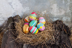 Set of colorful easter egg Stock Photo