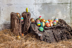 Set of colorful easter egg Stock Images