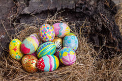 Set of colorful easter egg Stock Image