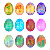 Set of colorful easter egg Royalty Free Stock Images