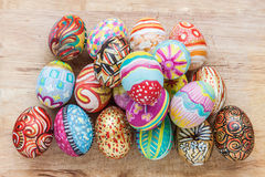 Set of colorful easter egg Royalty Free Stock Image