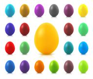 Set of colorful Easter eggs Royalty Free Stock Images