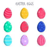 Set Of Colorful Easter Eggs Stock Photos