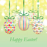 Set of colorful Easter eggs Royalty Free Stock Image