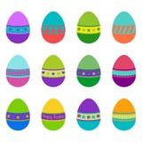 Set of colorful Easter eggs, illustration. Collection of colorful Easter eggs, illustration stock illustration