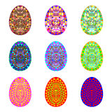Set of colorful Easter eggs. Stock Images