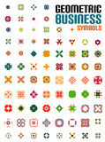 Set of colorful editable business symbols Stock Photos