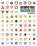 Set of colorful editable business symbols Stock Photography