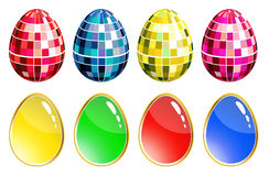 Set of colorful eggs. Colorful eggs on a white background Stock Images