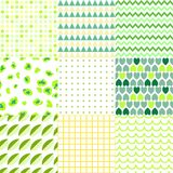 Set of colorful elegant seamless patterns royalty free illustration