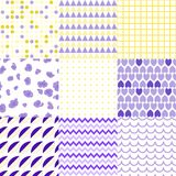 Set of colorful elegant seamless patterns. Universal different vector green seamless patterns, tiling. Endless texture can be used for wallpaper, pattern fills royalty free illustration
