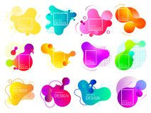 Set of colorful elements, gradient abstract. royalty free illustration
