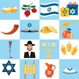 Set of colorful elements for Hanukkah celebration Stock Photos
